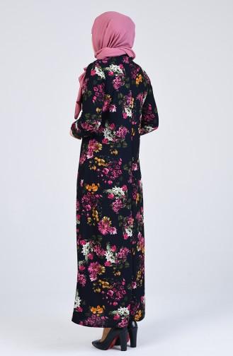 فستان أزرق كحلي 8869-06