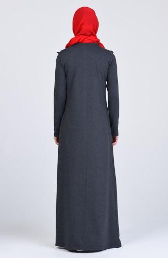 Robe Hijab Fumé 2992-12