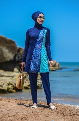 Navy Blue Swimsuit Hijab 02