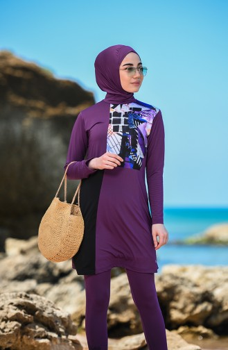 Maillot de Bain Hijab Pourpre 20113-01