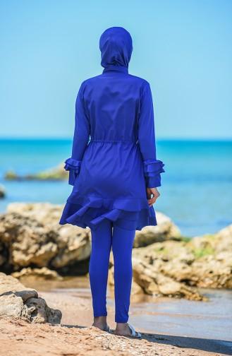 Saks-Blau Hijab Badeanzug 20146-02