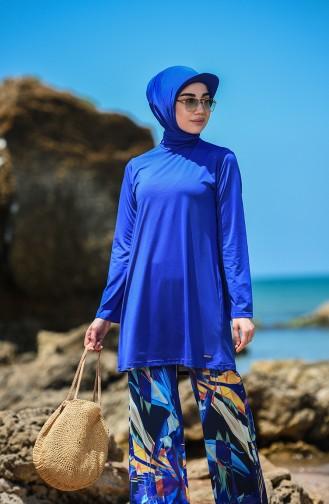 Maillot de Bain Hijab Blue roi 20187-01