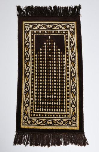 Tapis de Prière Brun Foncé 18-07