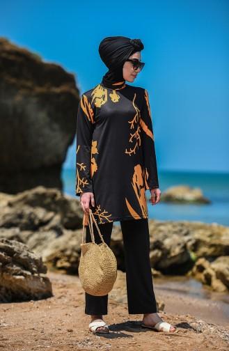 Black Swimsuit Hijab 20132-01