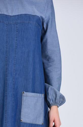 Robe Hijab Bleu Marine 4001-01