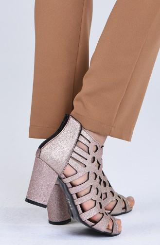 أحذية الكعب العالي زهري البشرة 0004-07
