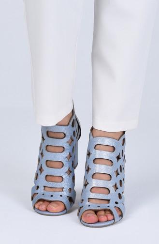 أحذية الكعب العالي أزرق 0004-10
