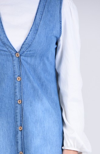 robe sans manche Bleu Jean 4109-01
