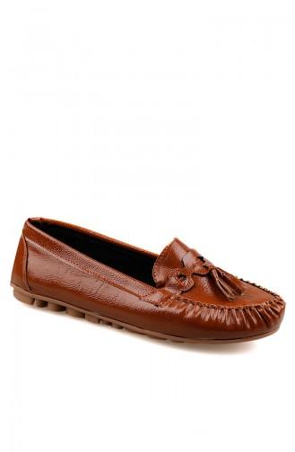 حذاء مسطح أخضر تبغ 0144-11