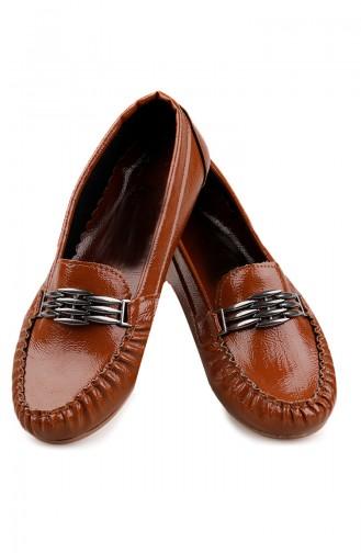 حذاء مسطح أخضر تبغ 0148-10