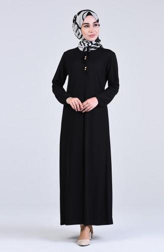 Black İslamitische Jurk 6510-02