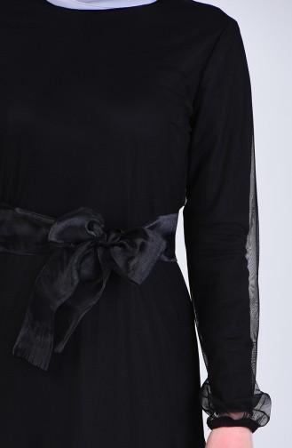 فساتين سهرة بتصميم اسلامي أسود 12023-01
