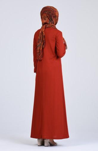 Ziegelrot Hijap Kleider 6510-05