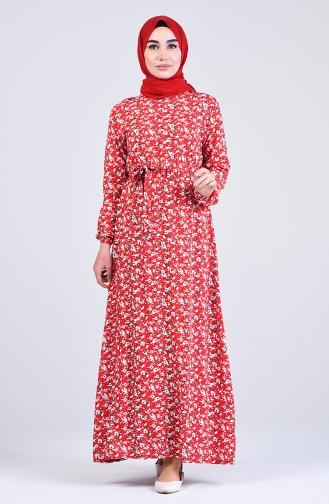 Robe Hijab Rouge 6573-05
