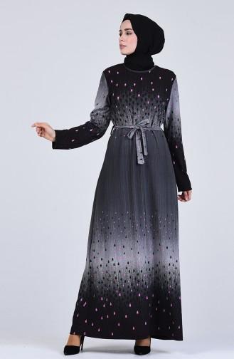 Robe Hijab Gris 5708K-02