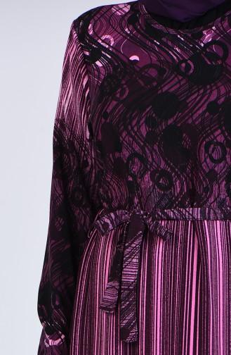 Robe Hijab Pourpre 5708L-04