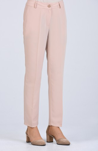 Classic Trousers with Pockets 20010-02 Beige 20010-02
