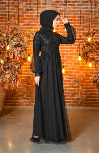 Habillé Hijab Noir 5239-05