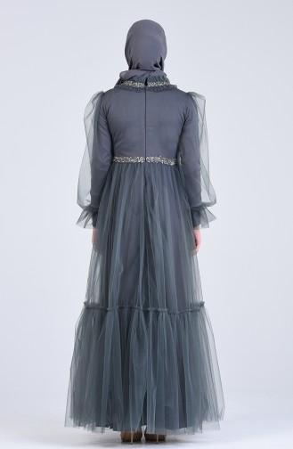 Unreife Mandelgrün Hijab-Abendkleider 4805-04