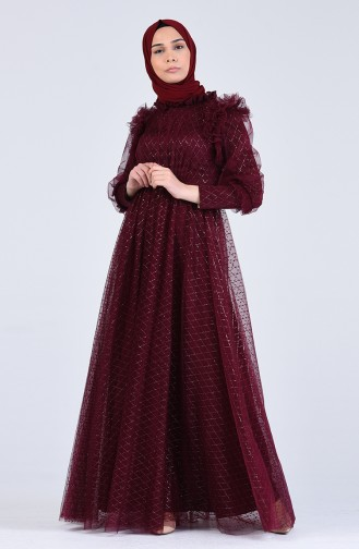 Habillé Hijab Bordeaux 4815-05