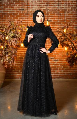Schwarz Hijab-Abendkleider 4815-06