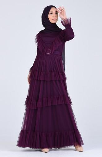 Lila Hijab-Abendkleider 12024-02