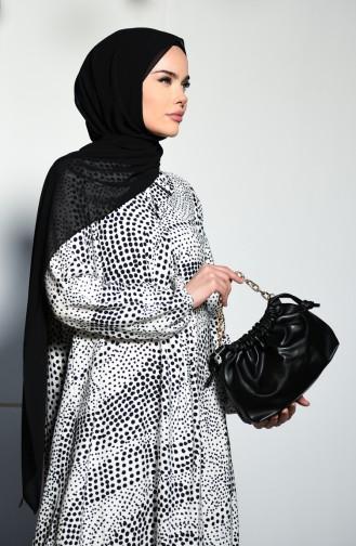 Weiß Hijap Kleider 8242-01