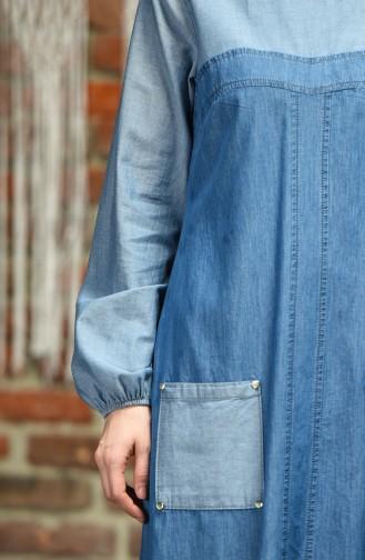 Robe Hijab Bleu Jean 4001-02