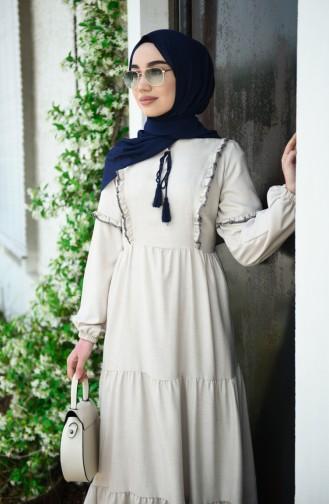 Beige Hijap Kleider 7095-02