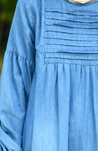 Robe Hijab Bleu Jean 8020-02