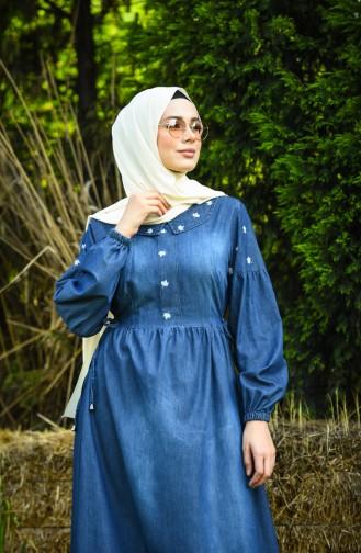 Robe Hijab Bleu Marine 8035A-01