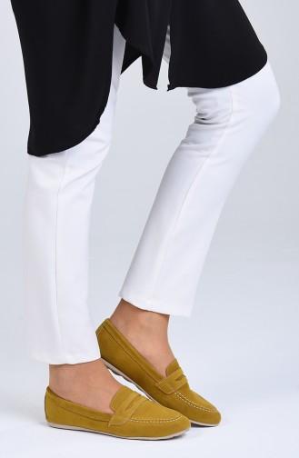 Mustard Woman Flat Shoe 0404-05
