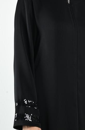 Payet Detaylı Ferace 10149-06 Siyah