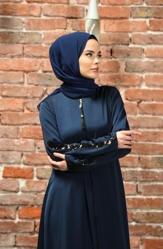 Navy Blue Abaya 10150-01
