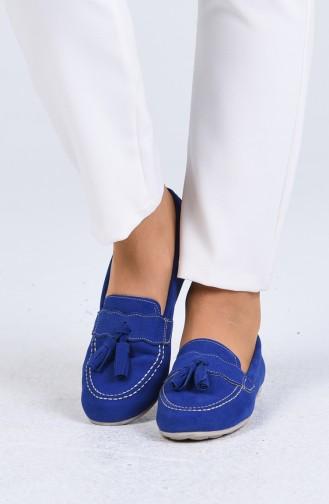 Saks-Blau Damen Ballerinas 0400-02