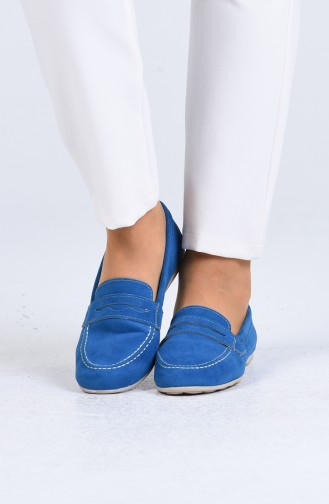 Ballerine Pour Femme Bleu 0404-03