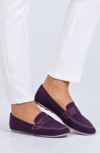 حذاء مسطح أرجواني 0405-06