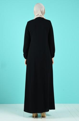 Black Abaya 19017-02