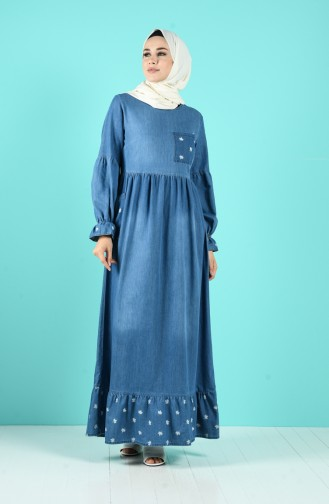 Jeans Blue İslamitische Jurk 8054B-01