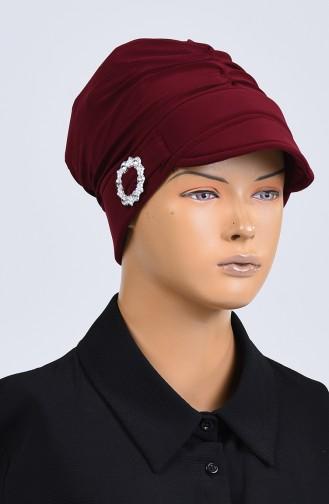 القبعات أحمر كلاريت 7018-07
