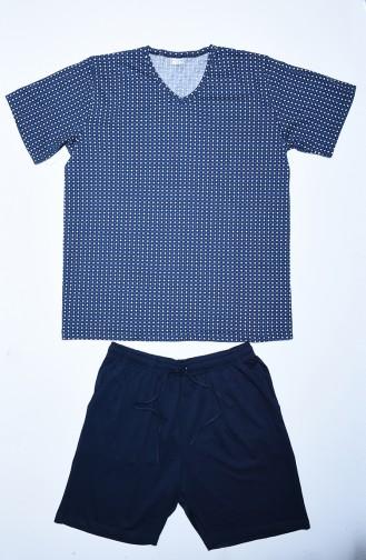 Pyjama Bleu Marine 912011-B
