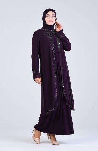 Habillé Hijab Pourpre 4252-01