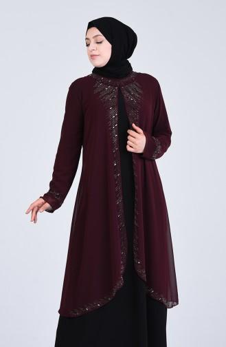 Habillé Hijab Bordeaux 4284-05