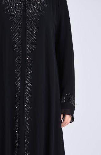 Habillé Hijab Noir 4284-04