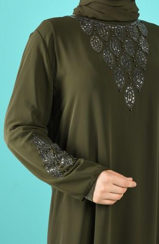 Khaki İslamitische Avondjurk 1267-06