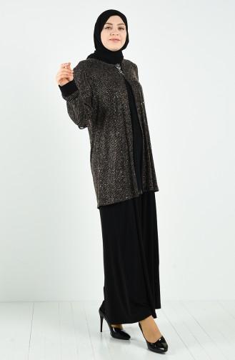 Habillé Hijab Or 1315-01