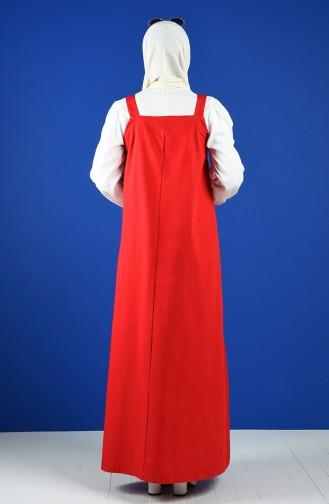 Rot Hijap Kleider 5024-06