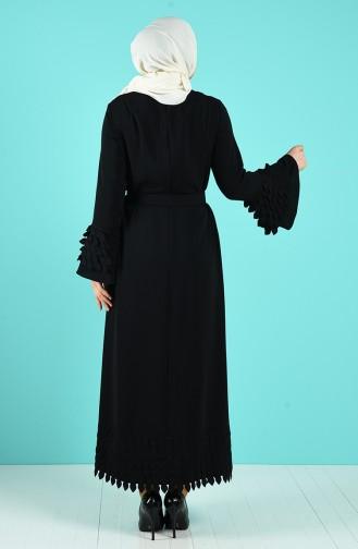 Plus Size Belt Dress 12019-02 Black 12019-02