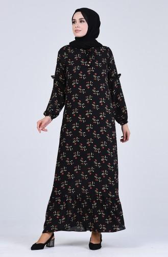 Robe Hijab Noir 8033A-01