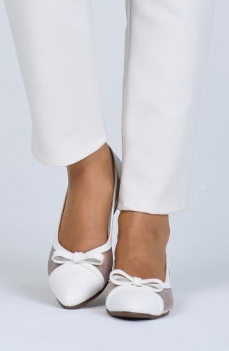 Bayan Babet 0211-04 Beyaz Cilt 0211-04